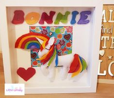 Box frame created to your own specification with name and theme of your choice. Handmade felt plush embellishments and Letters and a fabric or paper backdrop. Paper Backdrop, Handmade Felt, Box Frames, Embellishments, Backdrops, Dinosaur Stuffed Animal, Plush, Etsy Shop, Toys