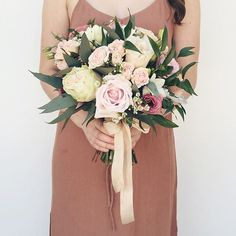 This is what we love-a beautiful bridal bouquet for a beautiful bride. Designed and modelled by @theflowercult.