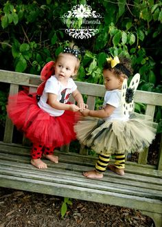 "3 pc.BABY BUMBLE BEE Halloween costume tutu set...Up to 8"" length....sizes newborn through 2t. $36.95, via Etsy."