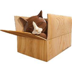 I-297 Cat in a Box  Intarsia Woodworking Pattern JGR