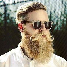 30 chic blonde beard styles for handsome men – hairstylecamp Best Beard Growth, Beard Growth Kit, Handlebar Mustache, Beard No Mustache, Moustache, Rachel Mcadams, Best Beard Balm, Mustache Growth, Man Fashion
