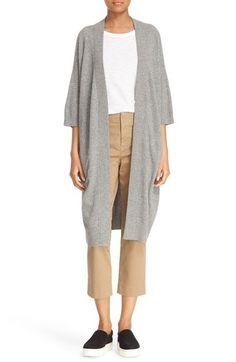 VINCE Elbow Sleeve Long Cashmere Cardigan. #vince #cloth #