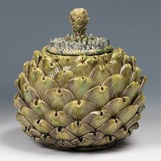 Kate Malone: An Artichoke Box With Dream Flower Lid