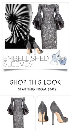 """""""Embellished sleeves"""" by ec300 ❤ liked on Polyvore featuring Milly, Gianvito Rossi and Thierry Mugler"""