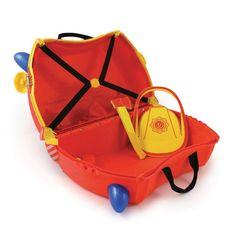 Slúži ako batožina a zároveň ho deti môžem využiť ako odrážalo pre skrátenie nudných chvíľ počas cestovania. Úložný priestor vo vnútri s objemom cca 18 l :)