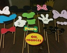 Mickey y Minnie Mouse foto Booth Props / princesa Minnie Mouse