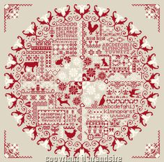redwork sampler - company has a large selection to choose from