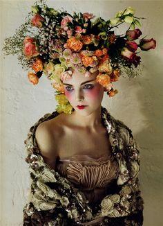 #Flower hat #makeup