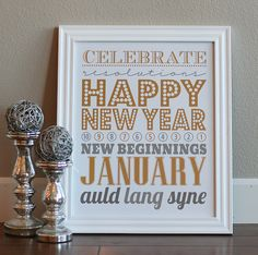 New Year's printable