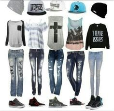 Fashion outfits, cool outfits for girls, nice outfits, swag outfits, back. Tomboy Outfits, Swag Outfits, Girl Outfits, Casual Outfits, Fashion Outfits, Fashion Ideas, Fashion Trends, Outfits With Hats, Outfits For Teens