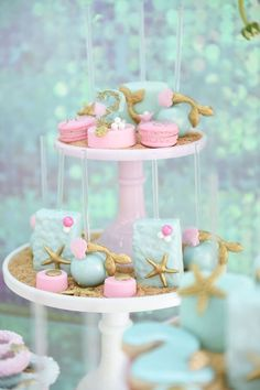 Sweets from a Mermaid Oasis Themed Birthday Party via Kara's Party Ideas | KarasPartyIdeas.com (23)