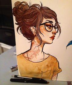 ✏️#inktober #inktober2go #watercolor #pentelbrushpen #illustration