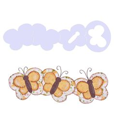 Régua Barrado Animais Isamara Custódio [borboleta]   Vitrine do Artesanato - VitrineDoArtesanato