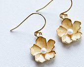 Yellow Oleander earrings from BrigherDay