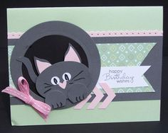 Kitty punch art Bday by TrishG - Cards and Paper Crafts at Splitcoaststampers