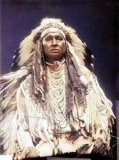 Mars-Che-Coodo (White Man Runs Him). Crow. 1910. Photo by De Lancey W. Gill.