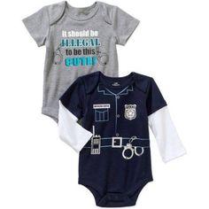 Newborn Baby Boys' Attitude Bodysuits, 2-Pack, Newborn Boy's, Size: 0 - 3 Months, Gray