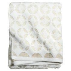 Tile Grid Bath Towel Natura White - Threshold™ : Target