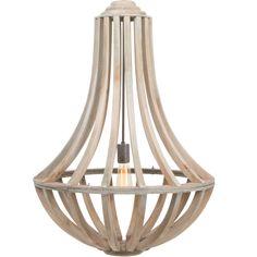 Deze prachtige houten hanglamp is geïnspireerdop de klassieke kroonluchters. De hanglamp heeft een diameter van 61 cm wat het echt een opvallende verschijning maakt. De lamp heeft een E27 fitting die geschikt is voor alle typen lichtbronnen.