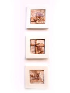 Modern Ceramic set of 3 Ceramic wall art Ceramic art by 99heads