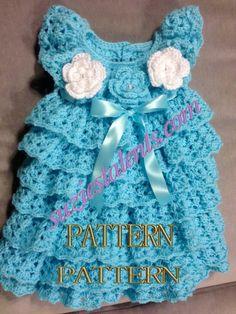 PATTERN PT060  Crochet Baby Layers Dress Baby door PatternsDesigner, $7.99