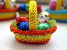 Crochet Easter Basket Free Pattern