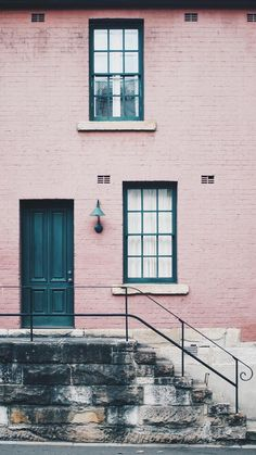 Pink House Wallpaper for iPhone and Android