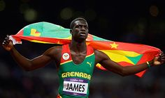 Kirani James- first gored for Grenada! TThis guy is a champ in many, many ways. 400m gold