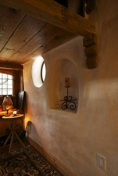 Beautiful cob home interior