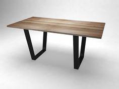 "custom for Angela Trapeze table leg , 1 set of 2 legs 28"" @ top , 23"" @ bottom , 28"" H -- natural black patina"