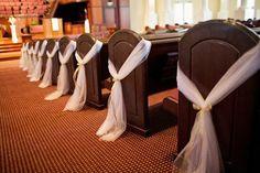 20 Tulle Wedding Pew Decor | eBay
