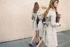 Twinning In Trenches #trenchcoats #summertrench