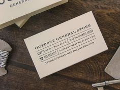 Outpost General Store Business Card Design