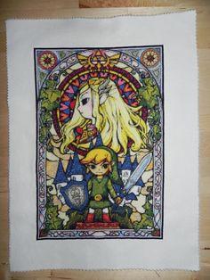 Legend of Zelda Stained Glass Cross Stitch on Global Geek News.