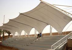 Saudi Arabia, roof for a soccer stadium - tensile structure - Sobresaliente studio by Roberto Santomauro