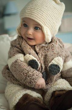 Теплый костюм для годовалого малыша. Описание, схемы