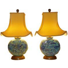 1stdibs | Vally Wieselthier Potttery Table Lamps Wiener Werkstatte