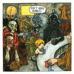 Darth Vader & Luke