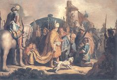 Portrait of Rembrandt van Rijn - Rembrandt - WikiPaintings.org   David offering the Head of Goliath to King Saul, 1627