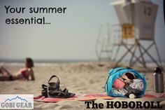 The HOBOROLL is the perfect pack to organize all of your gear for wherever your summer takes you. From the beach to traveling the world, it's compartmentalized design makes packing and unpacking a breeze! Check us out on gobigear.com!