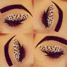 Disney's Cruella Deville eye makeup