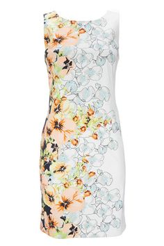 White Floral Petite Dress