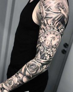 Forarm Tattoos, Forearm Sleeve Tattoos, Full Sleeve Tattoos, Tattoo Sleeve Designs, Eye Tattoos, Sleeve Tattoo Men, Best Forearm Tattoos, Black And Grey Tattoos Sleeve, Rose Tattoo Sleeves