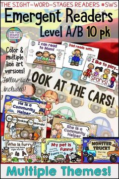 Use leveled sight-word readers in your classroom? Here's a manageable way to start and maintain your own guided reading collection! Keep a color set in the classroom and choose which line-art version of these sight-word stages readers to give to students Reading Resources, Reading Activities, Kindergarten Activities, Classroom Resources, Preschool Kindergarten, Early Reading, Guided Reading, Reading Fluency, Reading Books