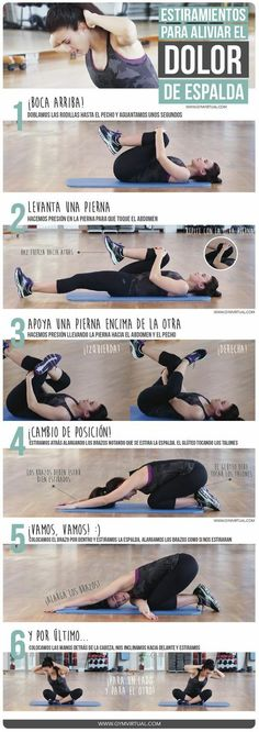 Fitness ejercicios espalda 47 Ideas for 2019 Pilates, Yoga Fitness, Health Fitness, Motivation Yoga, Psoas Release, Yoga Posen, Gym Time, Physical Therapy, Back Pain