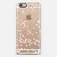 LIMITED EDITION ROSE GOLD FAUX GLITTER TRANSPARENT by Monika Strigel for iPhone 6