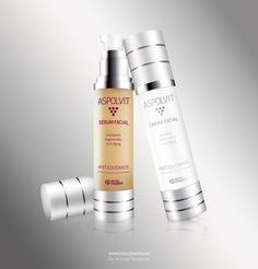 Sérum y Crema Facial de ASPOLVIT Anti-Aging   www.interpharma.es  www.facebook.com/AspolvitAntiAging?fref=ts