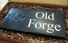 Just bought a new house?  Why not put your own personal touch on it, with a bespoke Welsh slate house sign?  www.valleymill.co.uk/products/signs