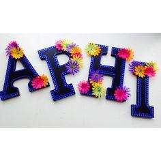Alpha Phi Crafting #alphaphi #alphaphiletters Alpha Phi Letters