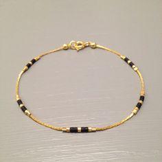 dainty gold bracelet bead simple bracelet by ToccoDiLustro on Etsy